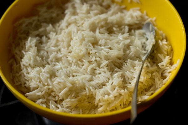 marinating rice with ghee