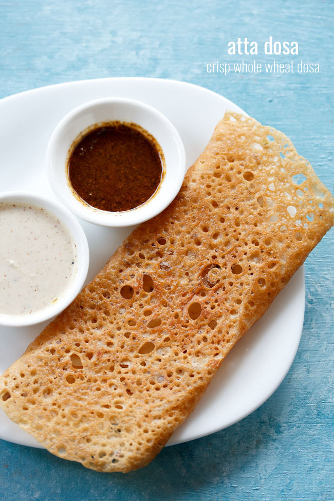 atta dosa recipe, instant whole wheat dosa recipe | godhuma dosa recipe