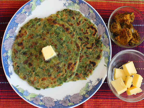 Quick Palak Chapathi Recipe