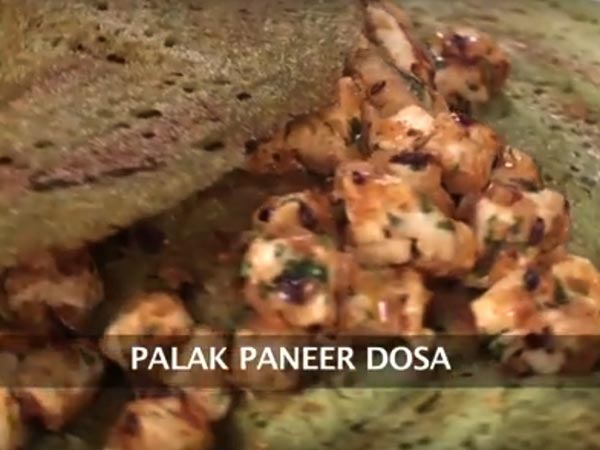 how to prepared palak paneer dosa