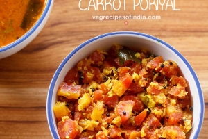 carrot poriyal recipe, how to make carrot poriyal recipe