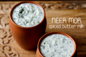 neer mor recipe – neer majjige | spiced buttermilk recipe | neer moru recipe