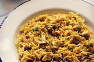 chettinad mushroom biryani recipe, chettinad veg biryani recipe
